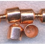 Copper Jewelry End Caps with 9mm Opening (2)