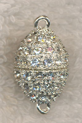 Magnetic Jewelry Clasp with Crystal Rhinestones
