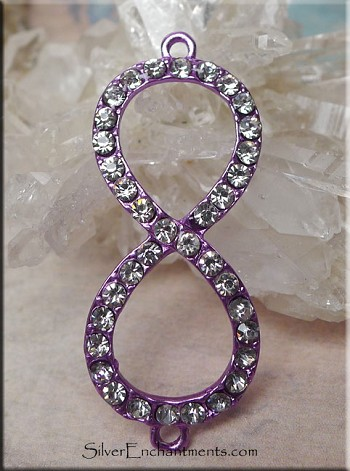 Lavender Infinity Jewelry Findings with Crystals