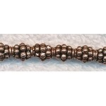 Copper Dotted Grenade Spacer Bead, 6.5x8mm