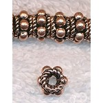 Copper Dotted 8mm Rondelle Spacer