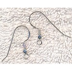 Sterling Silver Earwires with Coil and Cubed Ball Earring Hooks, 10-Pair Bag