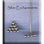 Sterling Silver Pyramid Head Pins, Lg (10)