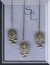 Sterling Silver Head Pins with Fancy Disc Accent (10)