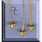 Vermeil Daisy and Ball Headpins (10)