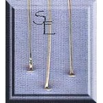 Sterling Silver Headpins, 2-1/8 inch (10)