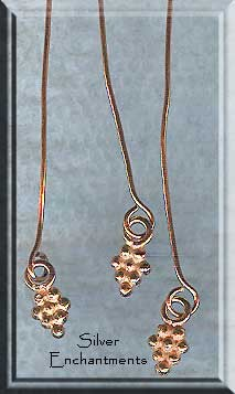 Solid Copper Head Pins with Dangling Accent (10)