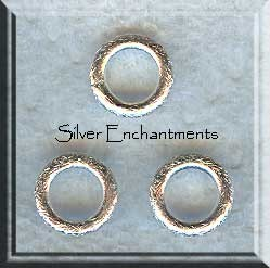 Sterling Silver Closed Jump Rings, 10mm, 13-gauge (2)
