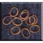 Solid Copper Closed 11x9mm Oval Jewelry Rings (10)