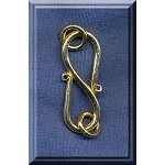 Vermeil Simple S-Hook Clasp with Rings, 18mm