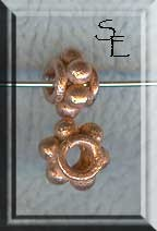 Copper 8mm Thick Dotted Spacer Bead