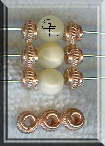 Copper Fancy 3-Strand Bead Separator Findings (10)