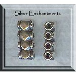 Sterling Silver 4-Strand Bead Separators (2)