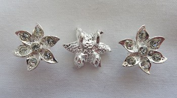 Flower Jewelry Separators with Crystals