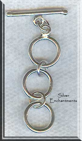 Sterling Silver Round 3-Ring Expansion Toggle