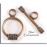 Solid Copper Twist Rope Detail Toggle Clasp