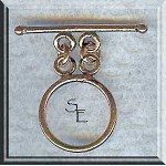 Solid Copper Plain Round Double Strand Toggle Clasp
