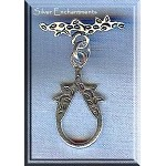 Sterling Silver Tear-shaped Toggle Clasp