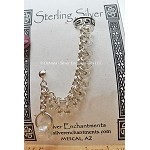 Chainmaille Earcuff Slave Earring, Sterling Silver Beaded Ear Cuff Earring, Crystal