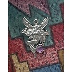 Sterling Silver Victorian Fairy Charm with Gemstone - CUSTOM MADE
