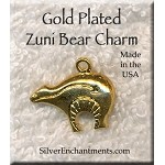Gold Plated Zuni Bear Charm