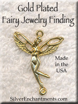 Gold Plated Fairy, Slyph with Loop