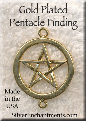Gold Plated Pentacle with Loop, Connector