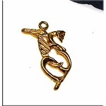 Gold Plated Dragon Pendant