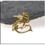 Gold Plated Fire Dragon Charm