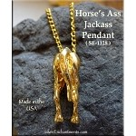 Gold Plated Horse's Ass Pendant, Jack Ass
