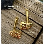 Gold Plated Tomahawk Pendant, 3D