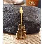 Gold Plated Guitar Pendant