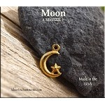 Gold Plated Crescent Moon Charm, Small