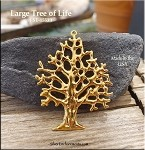 Gold Plated Tree of Life Pendant, Large