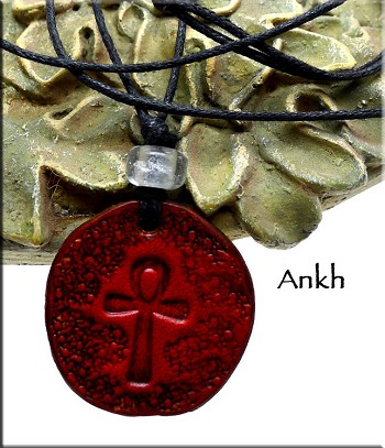 Leather Ankh Necklace