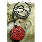 Leather Isis Necklace - Egyptian Jewelry