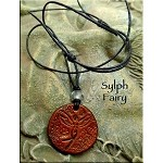 SOLD - Leather Sylph Fairy Necklace