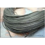 SOLDOUT - 1mm Slate Grey Leather Cord, 10-feet