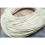 SOLDOUT - 1.5mm White Leather Cord, 10-feet