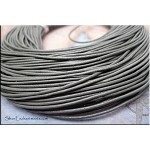 1.5mm Gray Leather Cord, Grey Leather, 10-feet