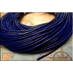 1.5mm Navy Leather Cord, Blue Leather, 10-feet