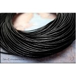 SOLDOUT - 1.5mm Black Leather Cord, 10-feet