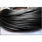 SOLDOUT - 2mm Black Leather Cord, 10-feet