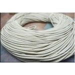 2mm White Leather Cord, 10-feet