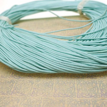 1mm Light Blue Leather Cord, 10-feet