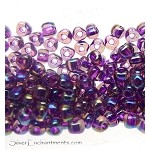 TR8-1832 Miyuki 8/0 Triangle Beads, Sparkle Magenta Lined Amethyst AB, 10-grams