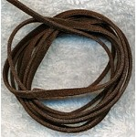 BROWN 3mm Micro Fiber Suede Lace Cord