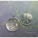 Masonic Tetragrammaton Necklace - Everyday Silver Esoteric Pentagram Jewelry