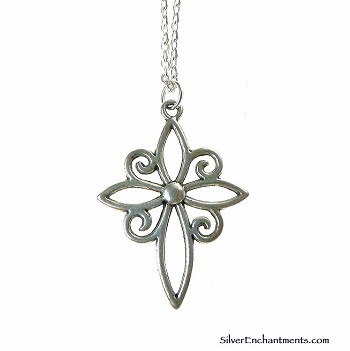 Silver Filigree Cross Necklace - Everyday Christian Jewelry
