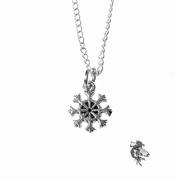 Delicate Snowflake Necklace, Small Snowflake Charm Necklace, Holiday Jewelry